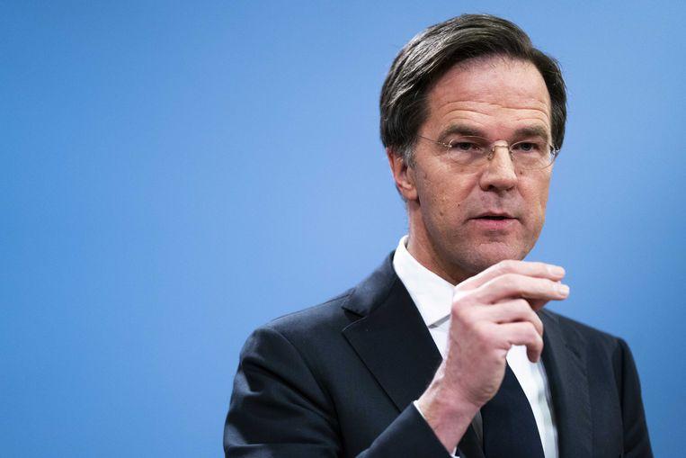 Mark Rutte vielen de schellen pas van de ogen na persoonlijke ontmoetingen met getroffen ouders. Beeld ANP