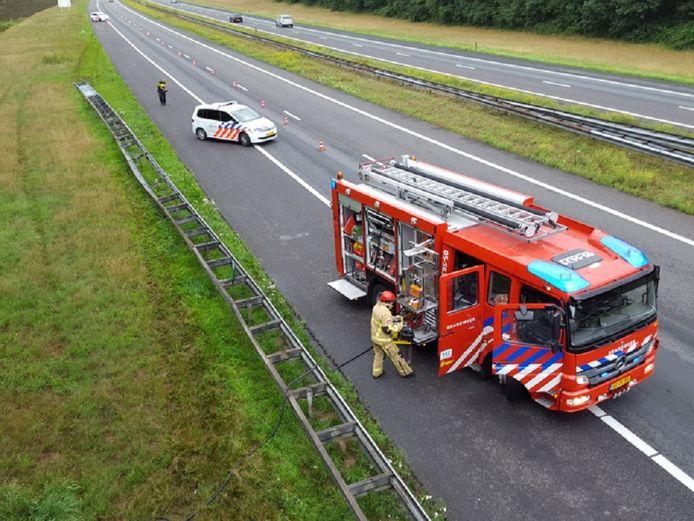 Bij het ongeluk op de A1 ter hoogte van Holten kwam een Poolse man om het leven.