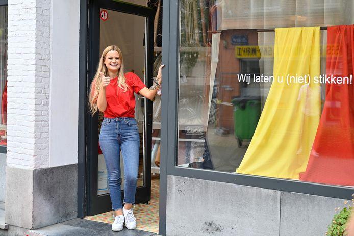 Red Challenge in de Paalstraat. Hier op foto: Silke De Backer van Stoffe & Koffe