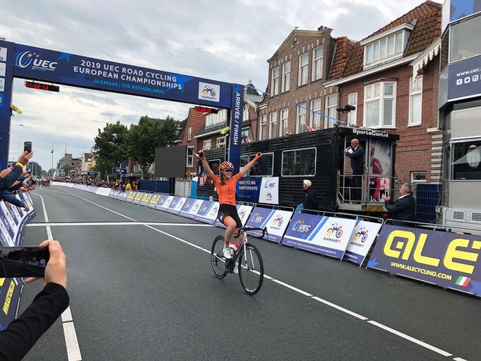 Ilse Pluimers werd vorig jaar in Alkmaar Europees kampioen.