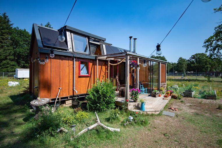 Karin Prins' tiny house. Beeld Peter Hermeling