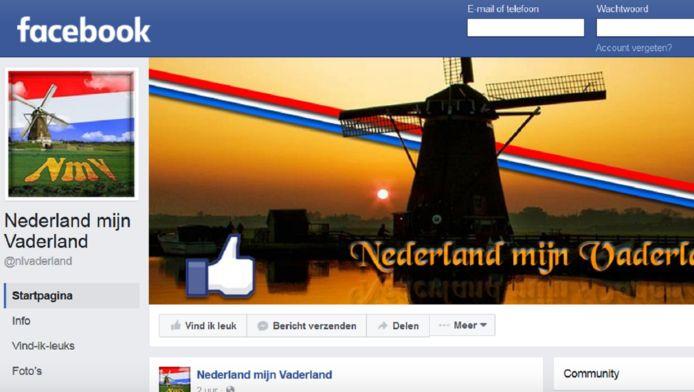De pagina van Nederland mijn Vaderland