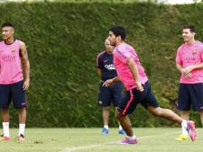 Wat eten Messi, Suárez en Neymar na de wedstrijd? Pizza!