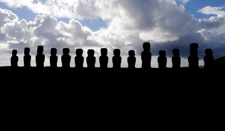 De beroemde beelden van Paaseiland. Beeld EPA