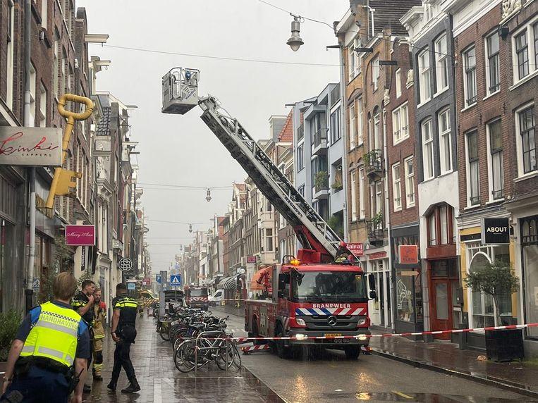 Gaslek op de Haarlemmerstraat. Beeld Timothy Hoenson