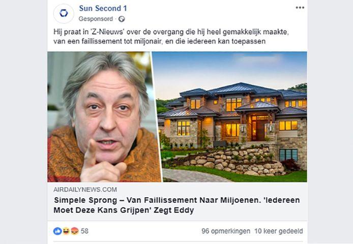 Dit fake news belandde vandaag in de Facebook-nieuwsfeed van talloze Vlamingen.