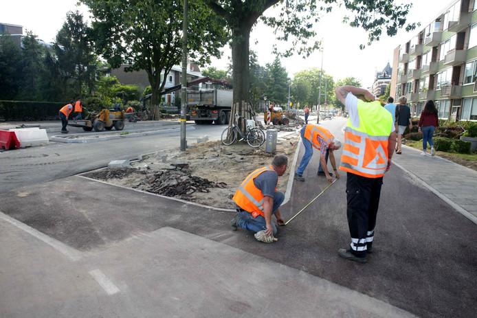 Werkzaamheden aan de Mr. Franckenstraat.