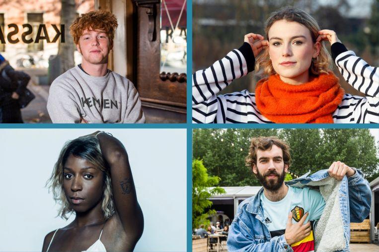 De nieuwe stemmen van Studio Brussel. Beeld Photo News / Kristof Ghyselinck / Tim Coppens