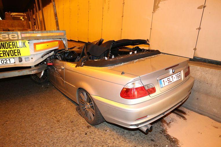Het ongeval in de Tijsmanstunnel Beeld Marc De Roeck