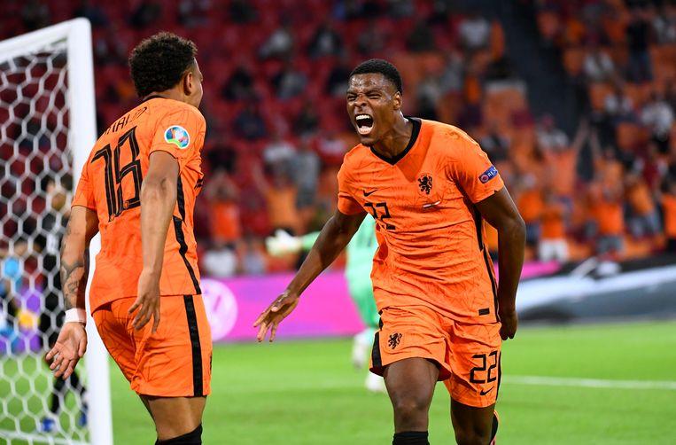 Denzel Dumfries was wéér van grote waarde voor het Nederlands elftal. Beeld Piroschka Van De Wouw/REUTERS