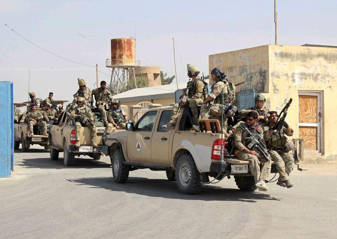 Afghaanse speciale eenheden in Kunduz, eind september 2015.