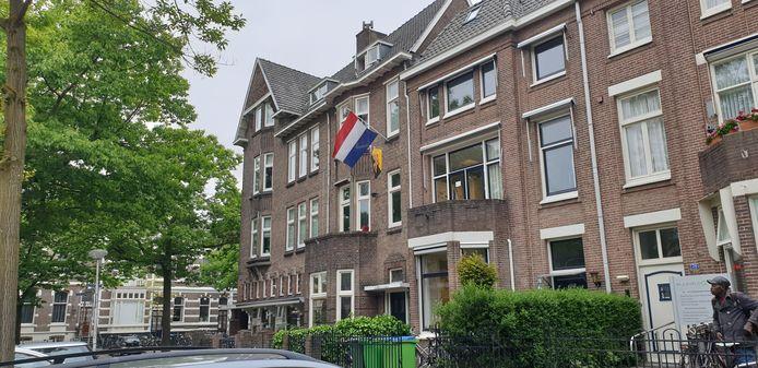 Dispuuthuis van THOR (met vlag).