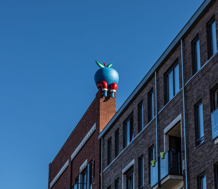 Op het dak zit de polyester appel even op adem te komen. Beeld Nosh Neneh