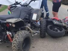 Quadbestuurder en motorrijder botsen in Poederoijen