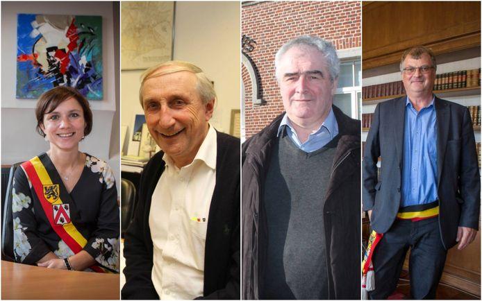 Burgemeesters Irina De Knop, Michel Doomst, Eddy Timmermans en Willy Segers.