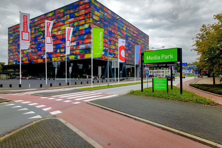 Entree van het Hilversumse Mediapark. Beeld ANP