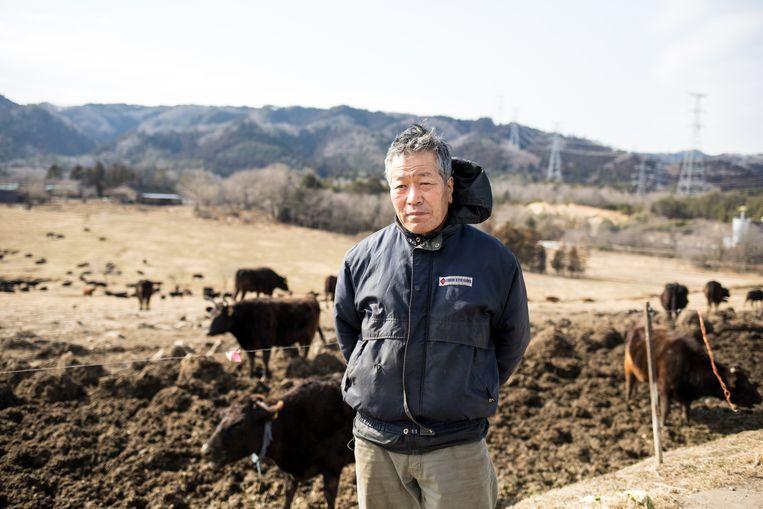 De achtergebleven Masami Yoshizawa, eigenaar van Boerderij van de Hoop. Beeld Hiroki Taniguchi