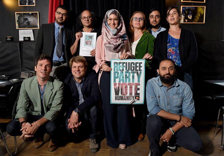 Archieffoto: de Refugee Party bij de oprichting in juni.