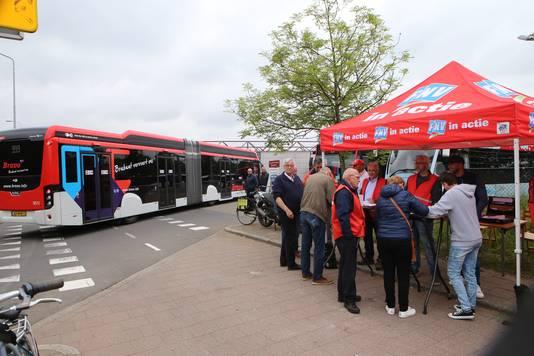 Stakende buschauffeurs in Zuidoost-Brabant, tijdens de meivakantie