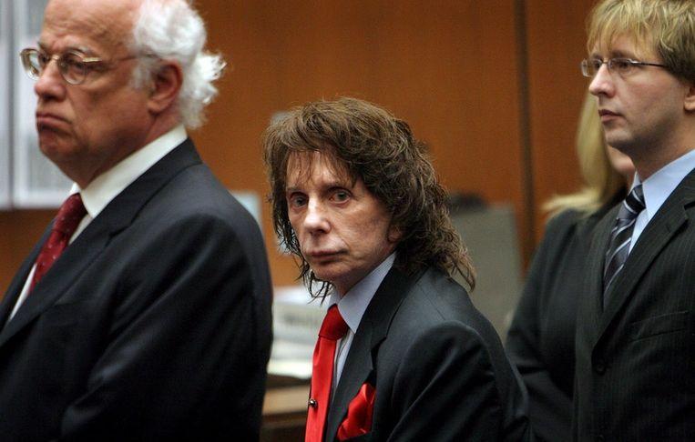 Phil Spector zelf in de rechtszaal in april 2009. © EPA Beeld