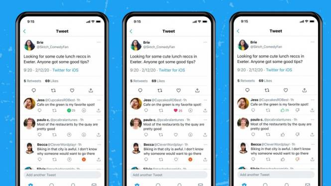 Twitter test 'duimpje omlaag-knop'