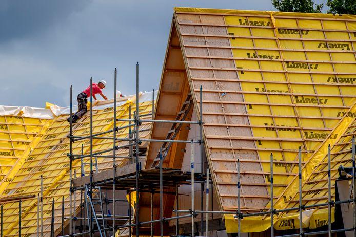 Huizen in aanbouw. Foto ter illustratie.
