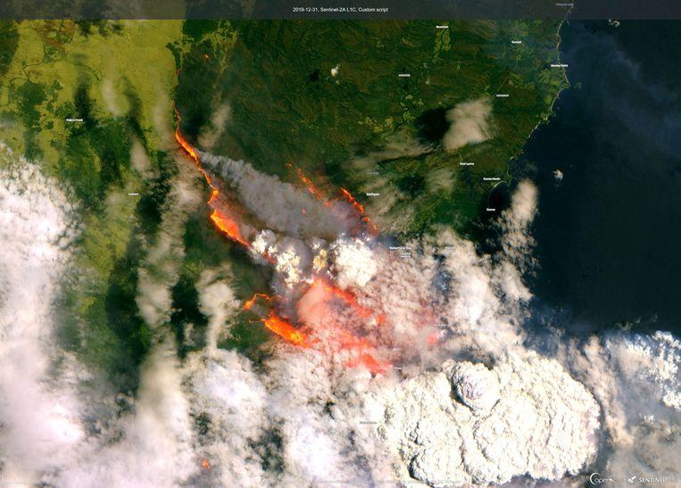 Satellietbeeld van Batemans Bay. Beeld via REUTERS