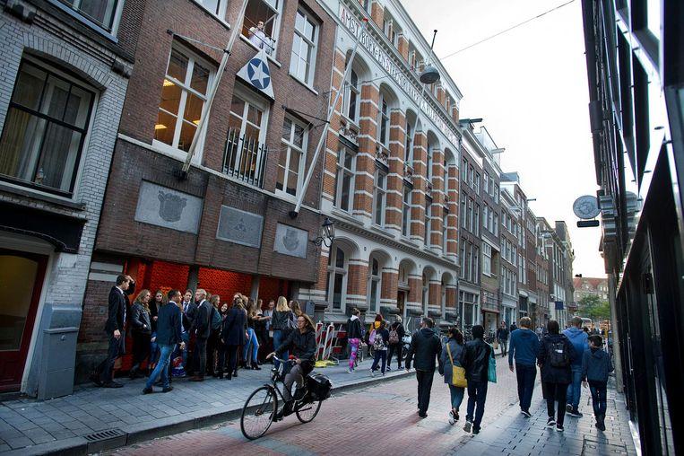 Het gebouw van het Amsterdamse Studenten Corps. Beeld ANP