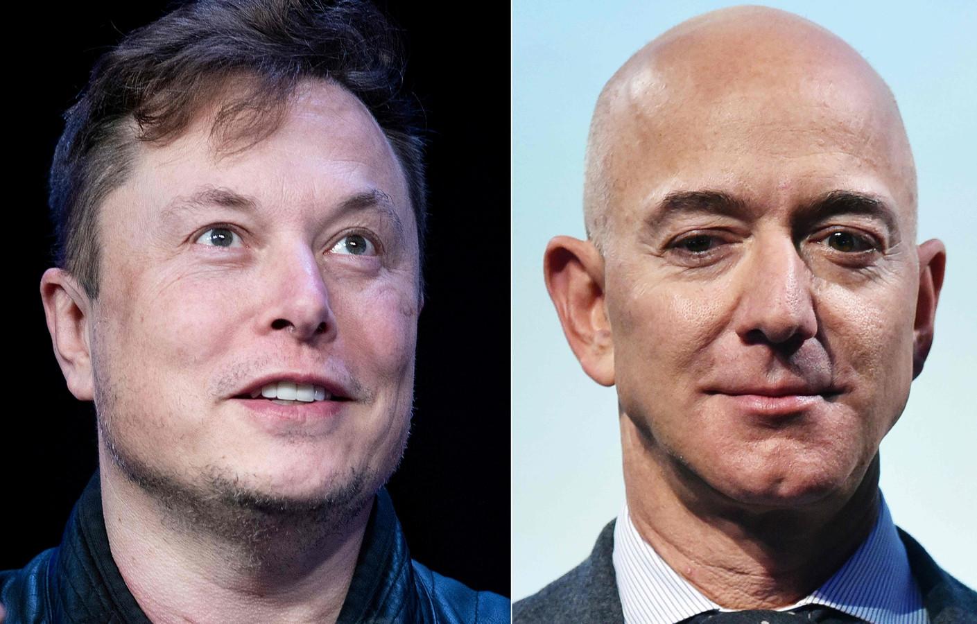 Elon Musk (Tesla, SpaceX) et Jeff Bezos (Amazon)