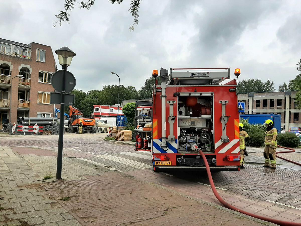 Bij werkzaamheden in de Bagijnenwalstraat in Gorinchem is een gaslekkage ontstaan.