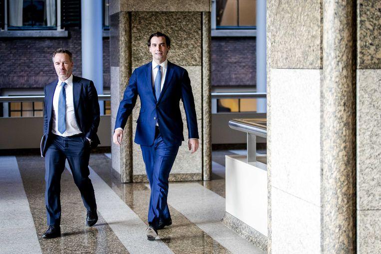 Wybren van Haga en Thierry Baudet. Beeld ANP