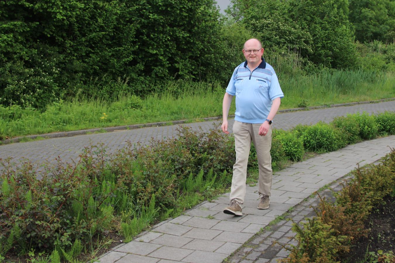 Ronald van Venrooij heeft zin in zijn trektocht, maar dicht bij huis vindt hij het ook leuk wandelen.