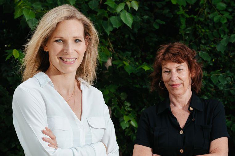 Julie Colpaert en haar tante Griet Pattijn. Beeld Damon De Backer