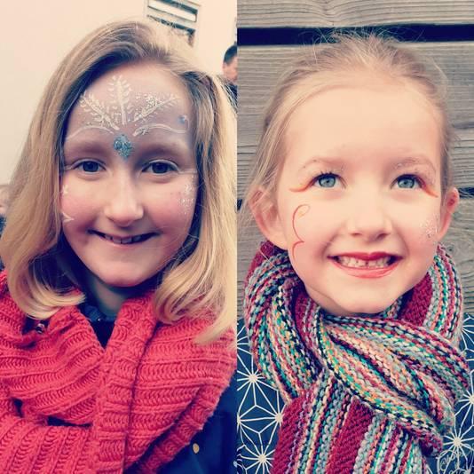 Linna (7) en Yenthe (9) vanuit Assen. Ze konden niet naar Moergestel komen vanwege het coronavirus.