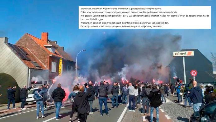 Afgelopen zondag kwamen honderden supporters samen in de Gistelsesteenweg. Inzet: een fragment uit de reactie van de politie op de klachtenmail.