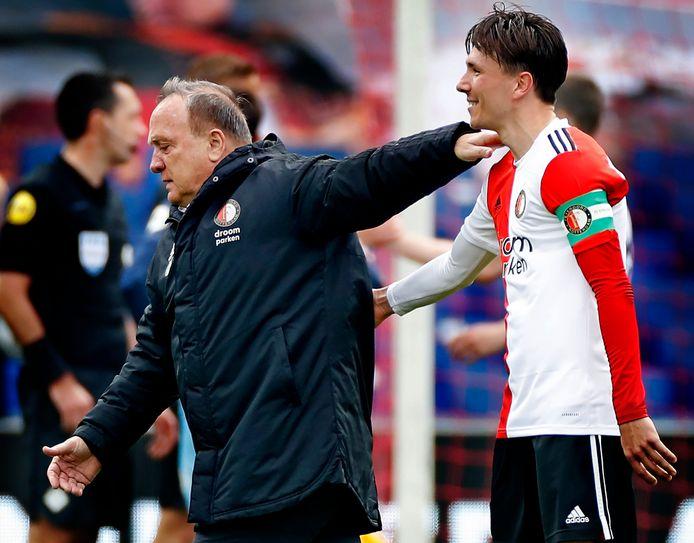 Dick Advocaat bij zijn afscheid van Feyenoord.