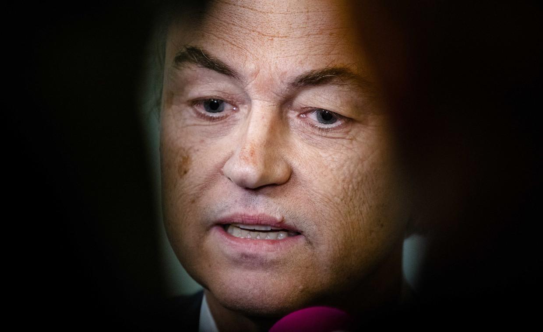 Wilders in de Tweede Kamer.  Beeld ANP