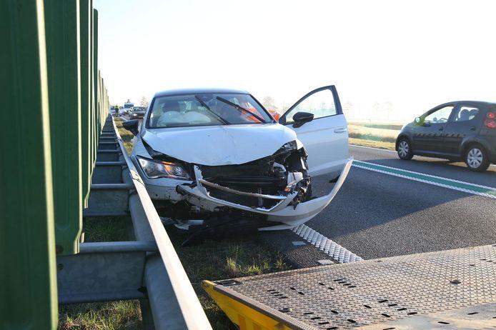 Meerdere auto's liepen schade op bij de ongevallen