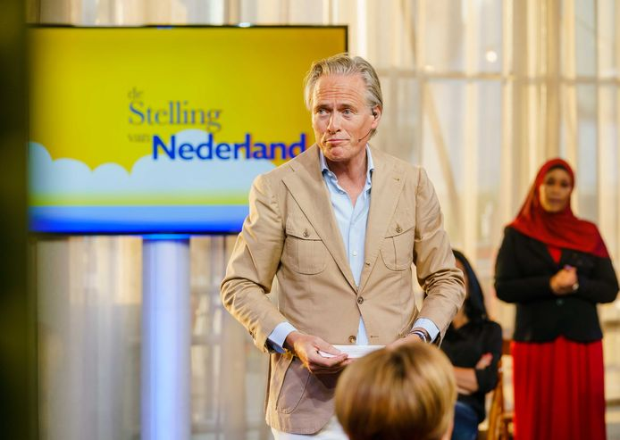 Jort Kelder tijdens het racismedebat op NPO 1.