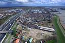 Luchtfoto van de IJzergieterij in Hardinxveld-Giessendam.