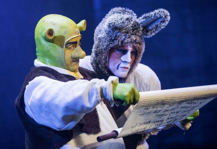 Shrek de Musical is in 2022 te zien in Theater de Stoep in Spijkenisse. Deze foto is gemaakt bij een versie van Greg & Baud Productions, een theatergezelschap uit Zoetermeer.