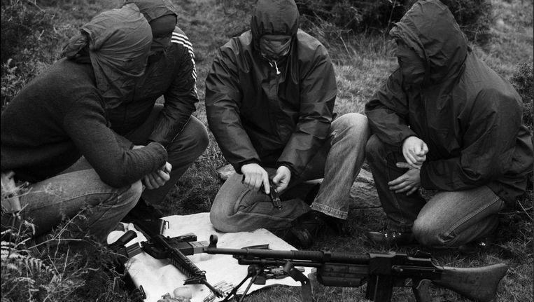ETA-leden op militaire training in 1978. Beeld getty