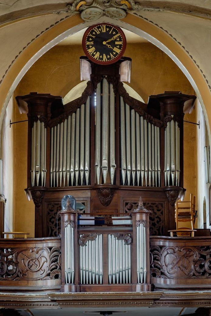 Het orgel van de Sint-Amanduskerk van Iddergem.