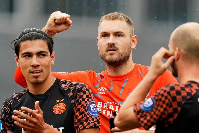 Jeroen Zoet keert terug bij de selectie van PSV tijdens het duel met FC Utrecht.