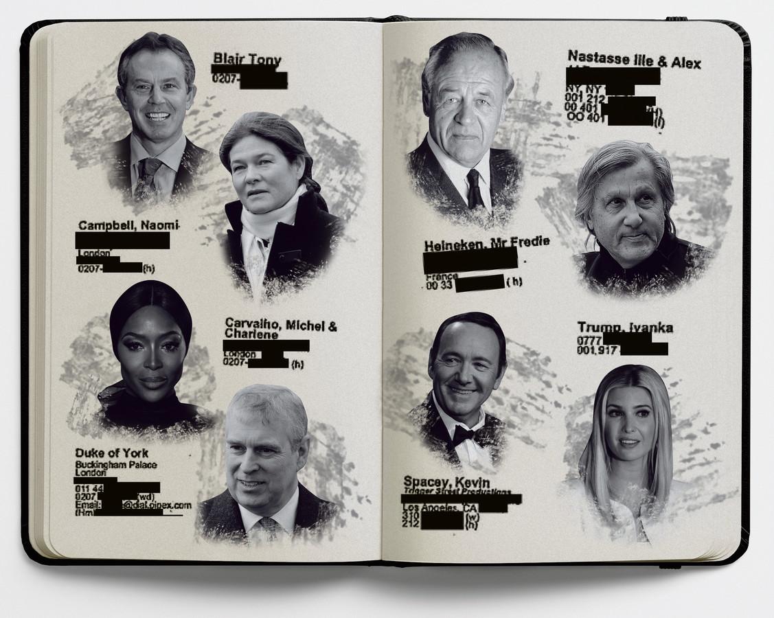 Beeldbewerking: een aantal namen uit het boekje van Epstein