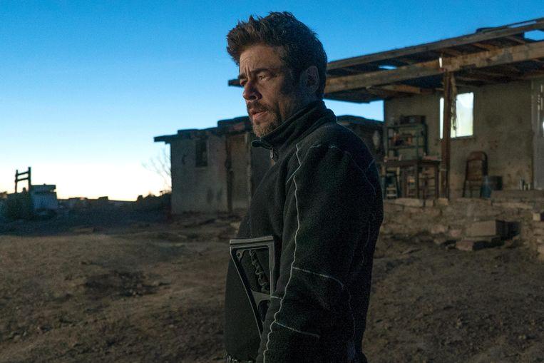 Benicio Del Toro in Sicario: Day of the Soldado Beeld