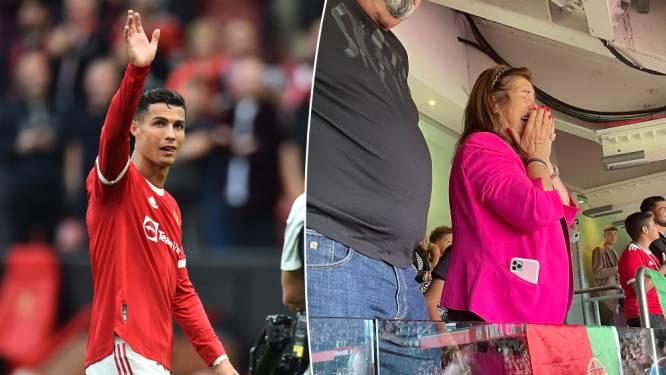 Tranen van geluk: mama Cristiano Ronaldo houdt het niet droog bij terugkeer en doelpunten van zoonlief in Manchester