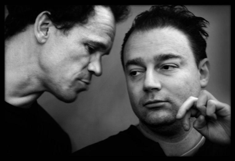 In 2003, met schrijver Rogi Wieg. Beeld Joost van den Broek