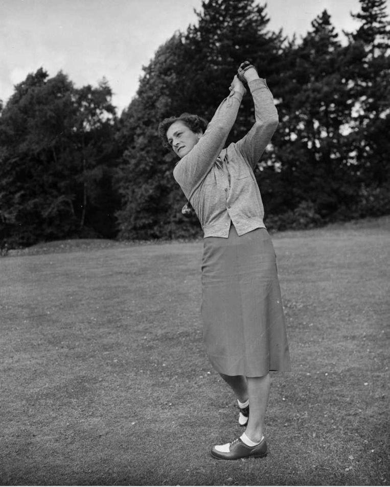 Babe Didrikson als golfspeelster Beeld UNKNOWN