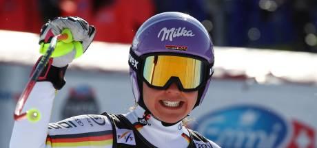 Rebensburg pakt kristallen bol reuzenslalom zonder te skiën